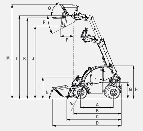 Reisinger-Baumaschinen_giant_teleskoplader_GT_5048_Abmessung